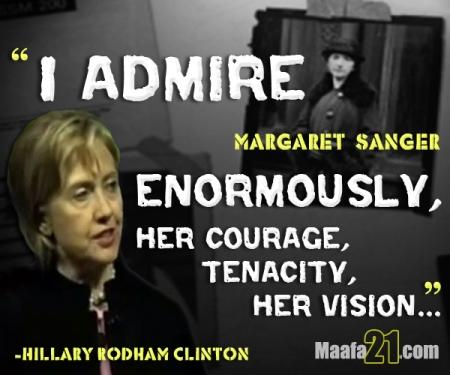 Hillary clintonMargaret Sanger