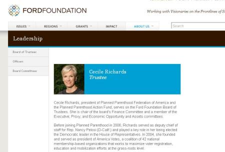 Cecile Richards Ford Foundation