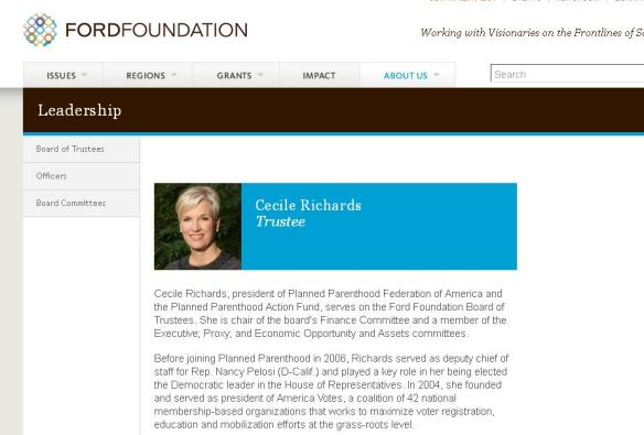 Ford Foundation brings president of eugenic founded