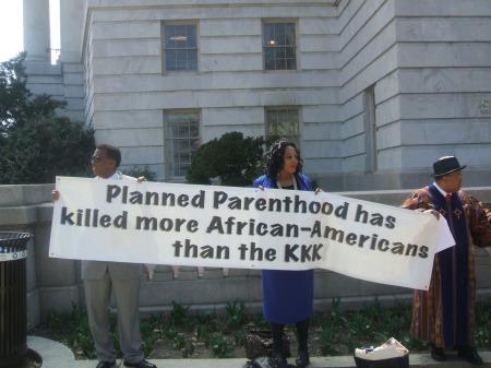 Planned Parenthood KKK Banner
