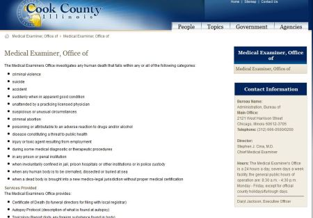 CookCty Medical Examiner
