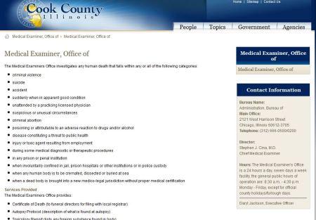 CookCty Medical Examiner