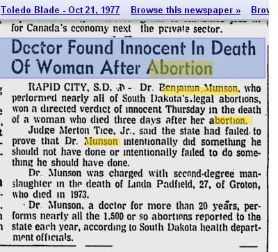 Doc Innocent Linda Padfield Death