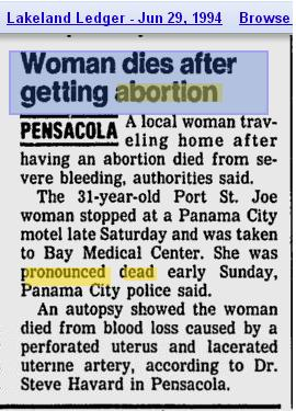 Pamela Colson Abortion Death