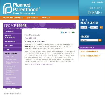 Planned Parenthood Sex Ed