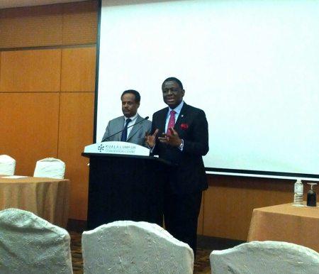 Babatunde Ostimehin and Tewodros Melesse
