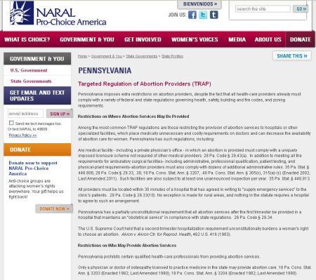 NARAL PA REstrictions