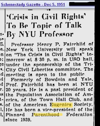 Henry Fairchild Eugenics PP