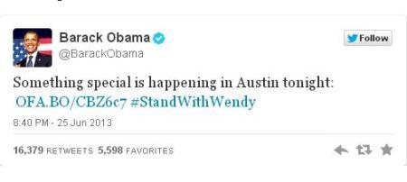 ObamaSuports Wendy Davis