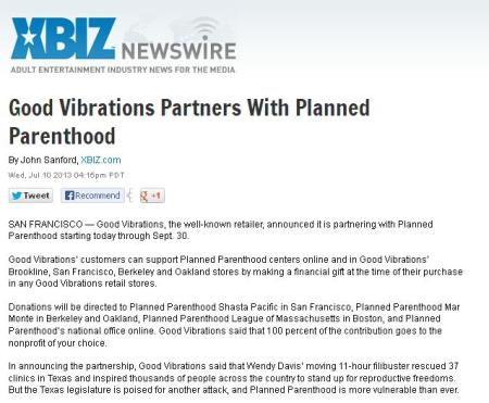 Good Vibrations Press Release