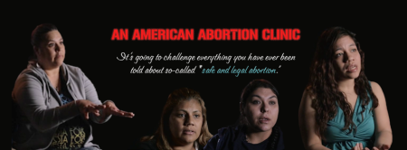 An American Abortion Clinic banner