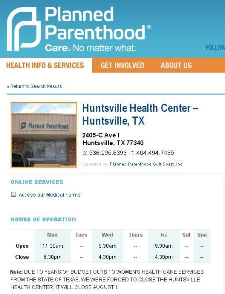 PP HUntsville TX