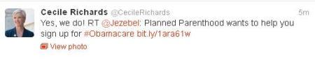 Cecile Richards PP ObamaCare