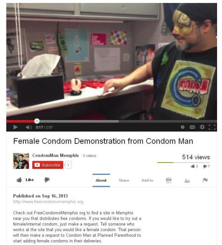 Condom Man UTube