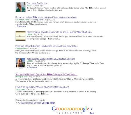 George Tiller Google News 2013 2