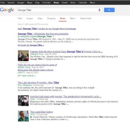 George Tiller Google News 2013