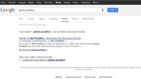James Pouillon Google news 2013