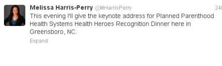 Melissa Harris Perrt Tweet PP speaker Oct 2013