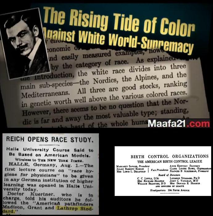 Racist Lothrop Stoddard Director For Margaret Sanger's