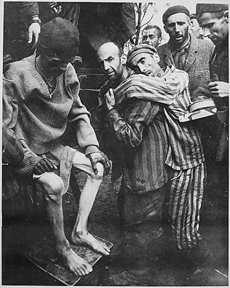 Survivors from the Wobbelin concentration camp