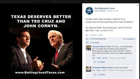 BGTX Opposes GOP like Ted Cruz