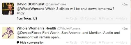 Oct2013 Tweet on 3 clinic to close