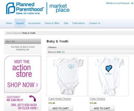Planned Parenthood Baby Onsie