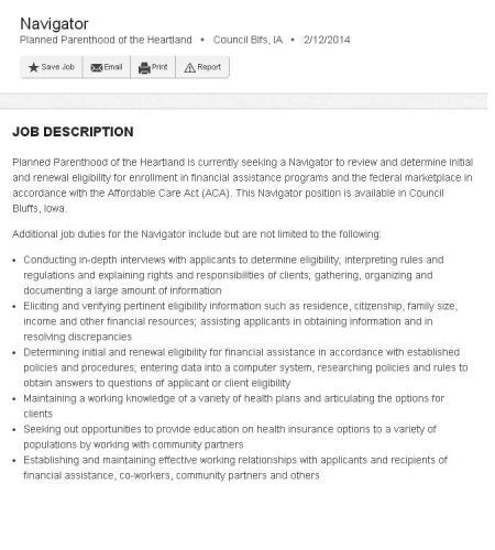 PP ACA IA Job