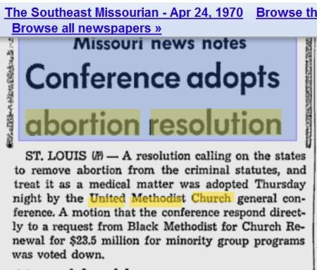 UMC 1970 Abortion resolution