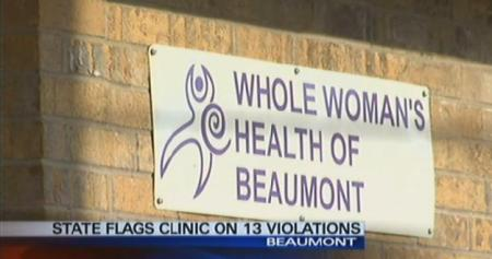 WWH Beaumont abortion clinic 13 health violations