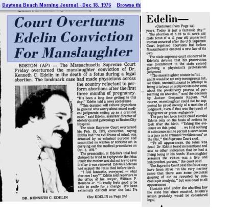 Edelin Conviction Overturned