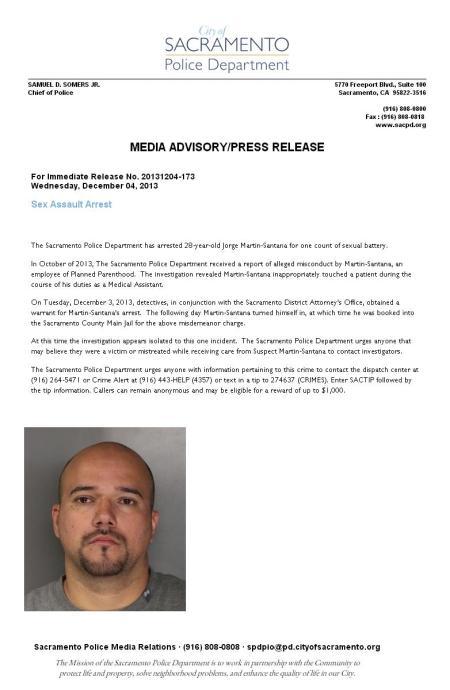 Jorge Martin Santana Sexual Assault
