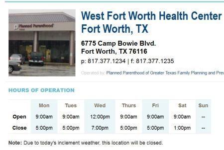 PP FT WORTH CLOSED