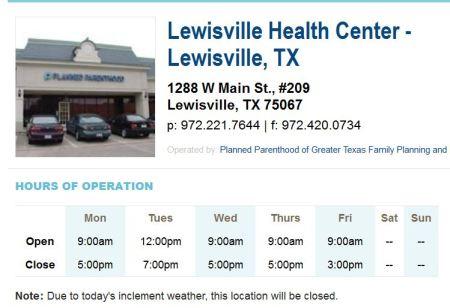 PP Lewisville CLosed
