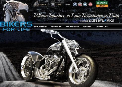 Bikers for LIfe Website Screen Grab