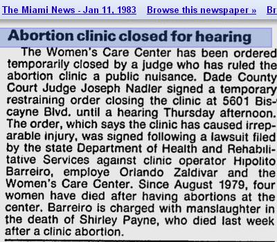 Orlando Abortion CLinic Deaths