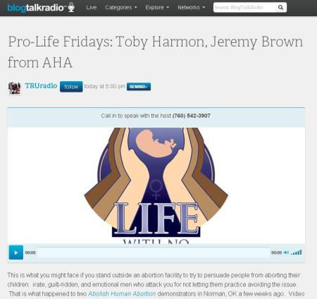 PROLIFE FRIDAYS Tobey Harmon