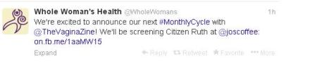 WWH Citizen Ruth Tweet