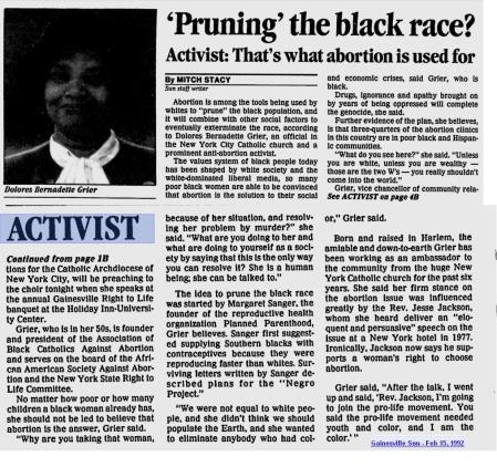 Delores Grier Pruning Black Race Article