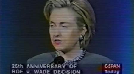 Hillary CLinto Cnngrats NARAL