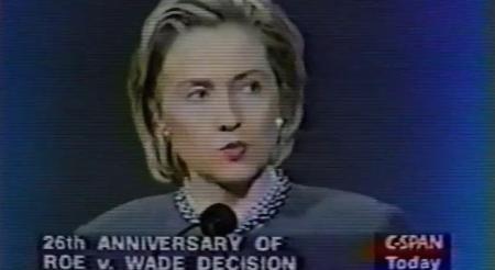 Hillary CLinton Cnngrats NARAL 2