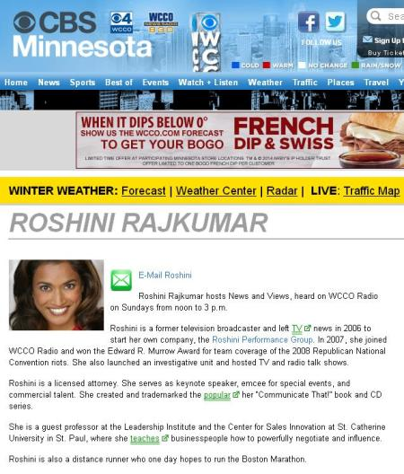 Roshini News and Views CBS
