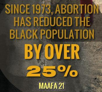 Since 1973 25 percent black Maafa21