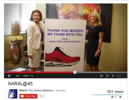 Wendy Davis with NARAL abortion group