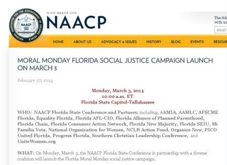 NAACP Moral Monday Planned Parenthood