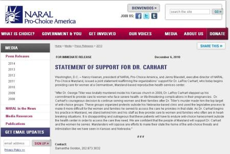 NARAL Supports Carhart