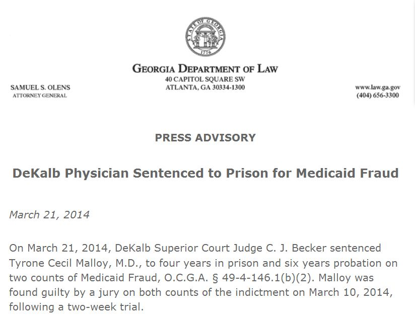 Abortion Doctor Sentenced to Prison for Medicaid Fraud ...