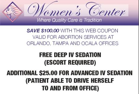 100 OWS abortion coupon