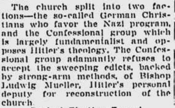 1937 church splits