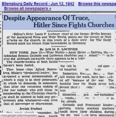 1942 Secret Memorandium